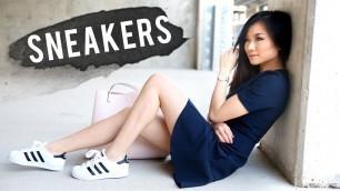 How to Wear Sneakers | Adidas Superstar 2 Lookbook | How to Style Adidas Superstar | Miss Louie