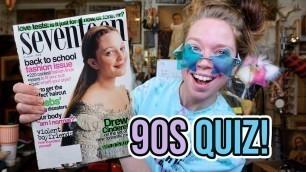 Take a 90s FASHION QUIZ with ME! (Vintage 90s Teen Magazine Nostalgia)