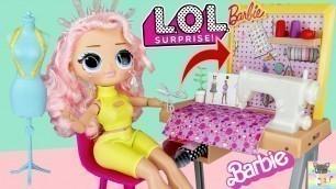 'OMG Winter Disco Crystal Star DIY Fashion Clothes for School & Barbie Toy Sewing Machine Playset!'