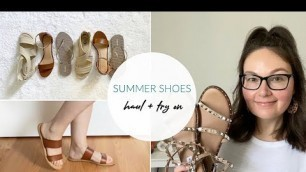 Summer Shoe Haul + Try On | Comfy & Affordable | Walmart, Target, Old Navy + Steve Madden
