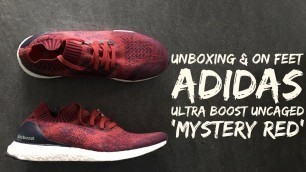 Adidas Ultra Boost Uncaged 'Mystery Red' | UNBOXING & ON FEET | fashion shoes | 2016 | HD