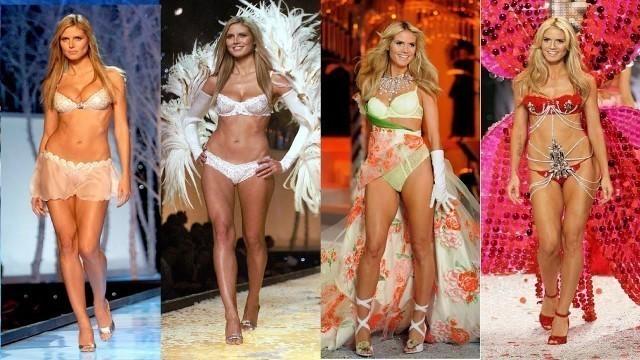 'Heidi Klum Victoria\'s Secret runway walk compilation (1997-2009) full HD - Best stage'