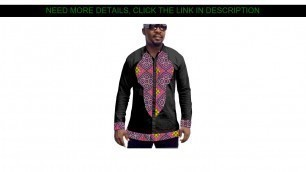 ⚡️ Best Product African men's shirts black African clothes patchwork shirt wedding outfits man dash