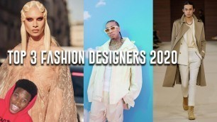 'TOP 3 FASHION DESIGNERS IN THE WORLD 2020!?! | Virgil Abloh, Mike Amiri, and Iris Van Herpen'