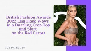 'British Fashion Awards 2019: Elsa Hosk Wows in a Dazzling Crop Top and Skirt  on the Red Carpet'
