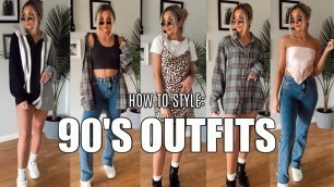 HOW TO STYLE 90'S TRENDS IN 2020 | 90's Inspired Outfits