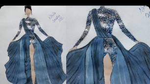 '#Thenewexpert #VideoStability #OPPOA92020 Dress sketch for fashion designing||how to draw a dress'