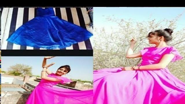Beautiful ❤️ long dress stitching and cutting with Mahadev Ki Deewani fashion designer kdj creation