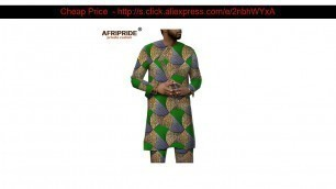 Limited Mens Tracksuit African Dashiki Clothing Printed Shirts Ankara Pants 2 Piece Set Wax Attire