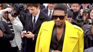 'Usher, Jourdan Dunn and more at the Balmain Fashion Show in Paris'