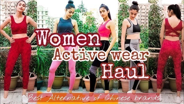 Women Activewear Haul from Indian Brands | Sportswear | Alternative of Chinese Brands | Fashion-1