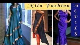 'Amazing Way to Change Old Saree to Designer Dresses | Nila fashion Models'