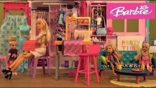 'Barbie and Ken Story with Barbie Fashion Studio and Chelsea Magic Rainbow Princess Costume Party'