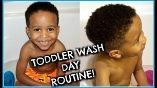 LITTLE BLACK BOYS NEED A WASH DAY TOO! | NATURAL HAIR TODDLER WASH ROUTINE