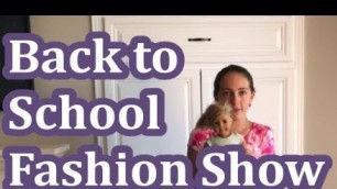 American Girl Back to School Fashion Show
