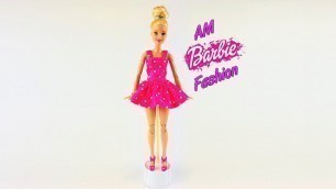 'DIY Barbie Toy Summer suit with polka dots - Barbie Fashion Clothes Tutorial for  Girls'
