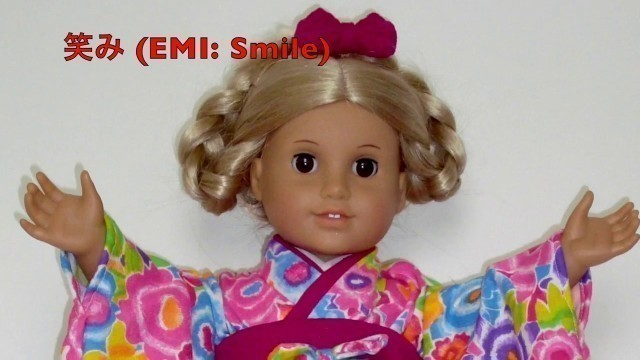 "Dressing American Girl doll & 18"""" dolls (EDO Girls): KIMONO CLOSE UP  ""Spring"" ドール着物"