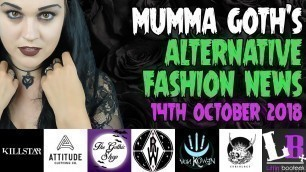 ALTERNATIVE & GOTHIC FASHION NEWS 14th October 2018 | Mumma Goth