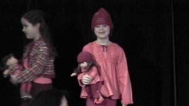 Syd models clothes at the American Girl Fashion Show - July 2007
