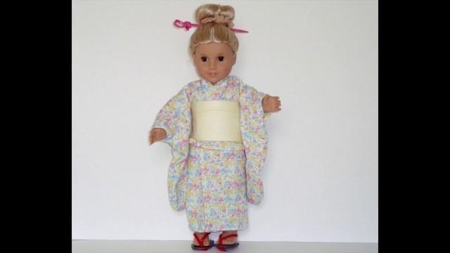 "Dressing American Girl doll & 18"""" dolls (EDO Girls): KIMONO CLOSE UP """"Summer"""" ドール着物"