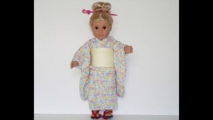 "Dressing American Girl doll & 18"""" dolls (EDO Girls): KIMONO CLOSE UP """"Summer"""" ドール着物"