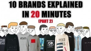 10 Notable Fashion Brands Explained in 20 Minutes (PART TWO)