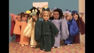 "Dressing American Girl doll & 18"""" dolls (EDO Girls): KIMONO CLOSE UP """"Rainbow 虹"""" ドール着物"