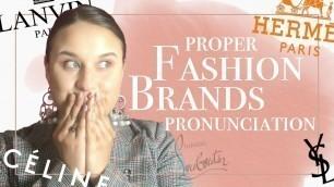 ✅ Correct Pronunciation of Fashion Brands