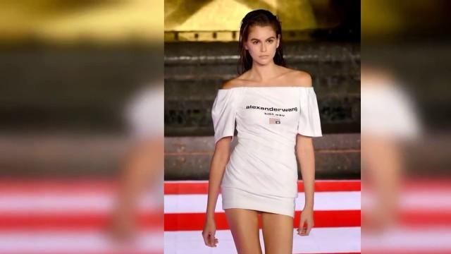 Kaia Gerber Ramp Walks   The Alexander Wang Collection Fashion Show