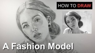 'How to Draw a Fashion Model with Graphite Pencils   Arkin Art'