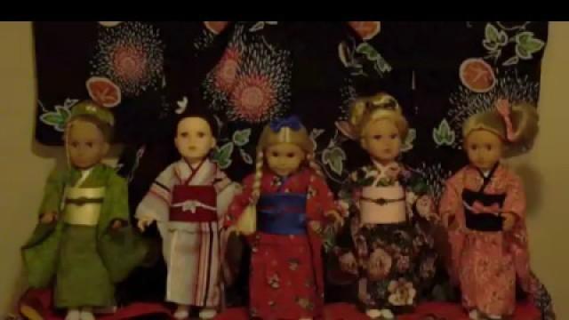 EDO Girls:  American Girl doll Kimono Fashion Show:  New Beginning アメリカンガールドール(江戸がーるず)着物ショー