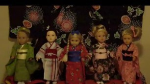 EDO Girls:  American Girl doll Kimono Fashion Show:  New Beginning アメリカンガールドール(江戸がーるず)着物ショー