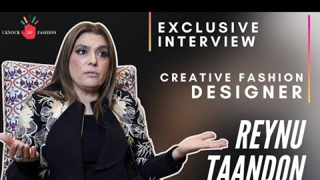 'CREATIVE FASHION DESIGNER || REYNU TAANDON || EXCLUSIVE INTERVIEW WITH IKF || ❤ SHAHRUKH KHAN ❤'