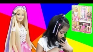 'BARBIE DOLL/ PLAYSET WITH HAIR STYLING ACCESSORIES/MULTI COLOUR/FASHION ACCESSORIES'