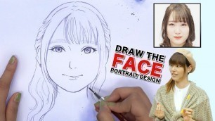 'DRAW THE FACE Japanese Fashion Model'