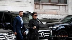 'Kris Jenner Balmain Paris Fashion Week'