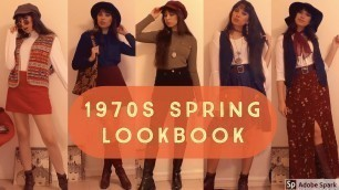 'Spring Lookbook   1970s Inspired Style'