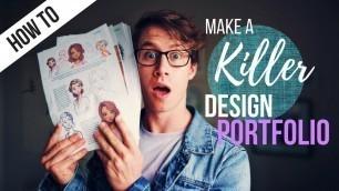 'How to Make the BEST Design Portfolio for University'