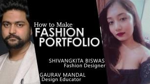 'How to make Fashion Portfolio │ Free Fashion Design Classes'