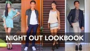 'Night Out Lookbook // Women\'s and Men\'s Fashion'