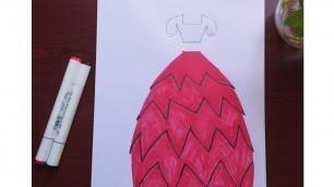 Fashion illustration dress//fashion designer