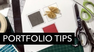 'Portfolio Presentation: Cutting and Mounting Tips, Tricks, and Tools'