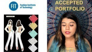 'Accepted FIT fashion design portfolio 2020 + Essay example - Part 2'
