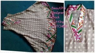 'Casual dress designing cutting and stitching casual frock for girls latest designs'
