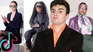 'Fashion Critic Reacts to Tik Tok Front Row Fashion Challenge'