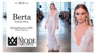 'Berta Fashion Show at New York Bridal Fashion Week - Spring/Summer 2020 Bridal Collection'