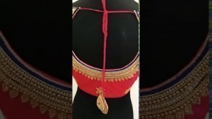 'Heavy bridal aari work blouse || B2 fashion designer'