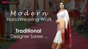 'Modern Handweaving Work    Traditional Designer Sarees (06th November) - 05NH'