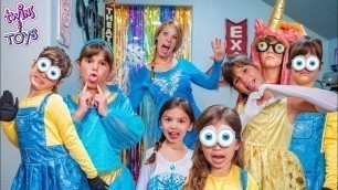 'Frozen Elsa Gives Kate & Lilly a Magic Fashion Show with a Dance Party!'