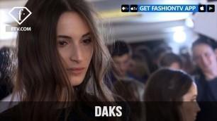 'London Fashion Week Fall/Winter 2017-18 - Daks Hairstyle | FashionTV'
